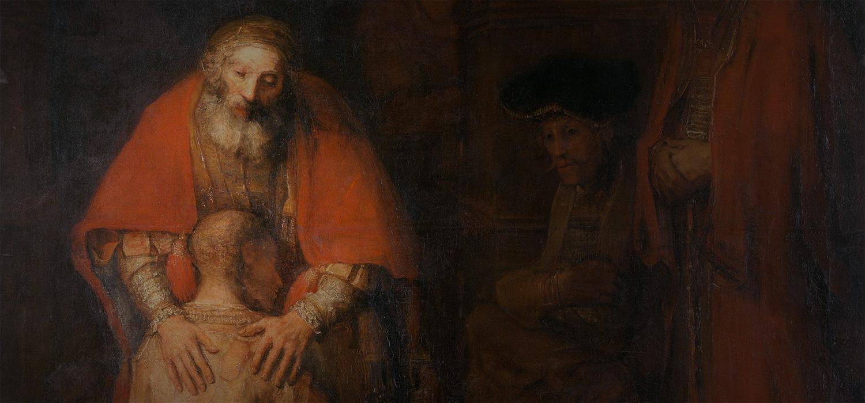 Le Retour du fils prodigue (détail) Rembrandt, vers 1668. Musée de l'Ermitage, Saint-Pétersbourg (Russie).
